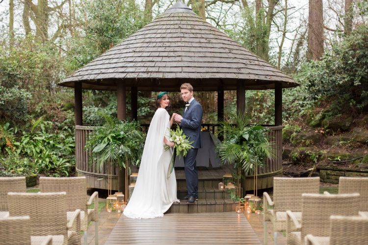 botanical outdoor wedding ceremony at moxhull hall