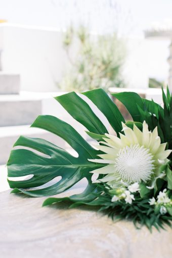 monstera leaf bouquet