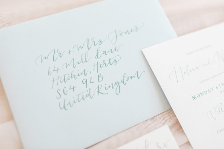 luxurious invitation calligraphy