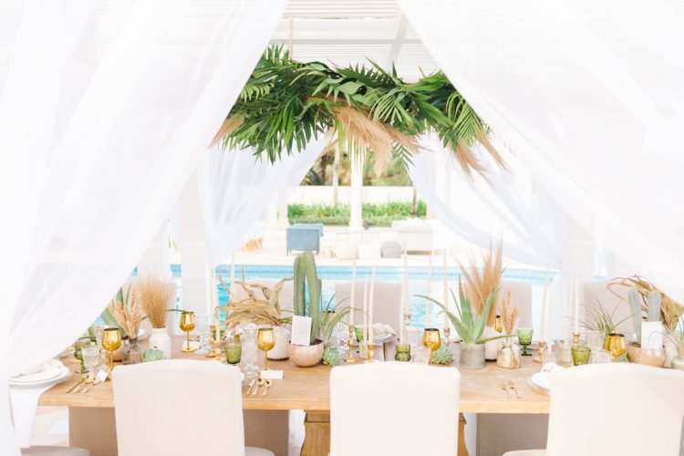 poolside reception