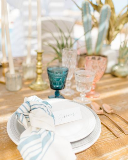 luxe and boho table setting