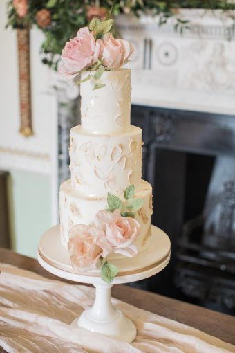 three-tiered cake