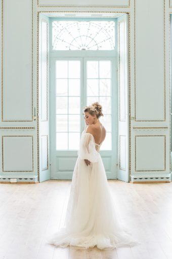French blue venue interiors
