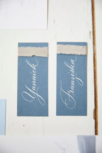 dusty blue stationery