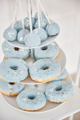 dusty blue donuts