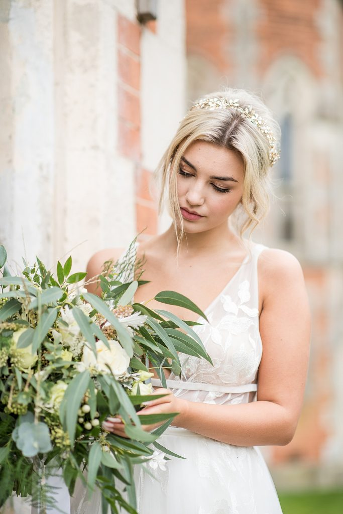 Nature-Inspired Crystal Bridal Crown