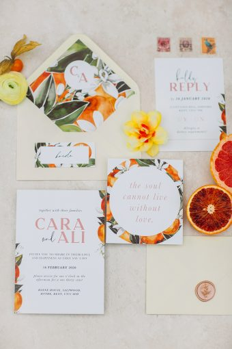 fruity and pretty wedding