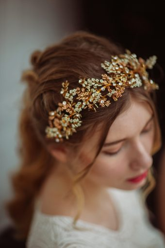 modern bridal crown