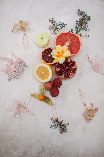 fruits and florals wedding inspiration