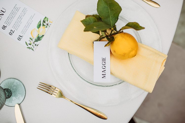 lemon tablescape