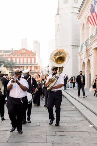 second line parade wedding