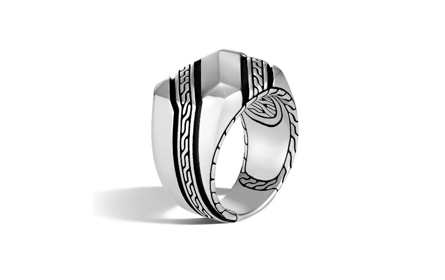 Chain Signet Mens Ring